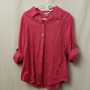 Alia Long Sleeve Button Up Shirt Womens Size 16